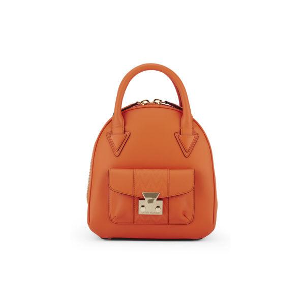 Matthew Williamson Mini Leather Dome Tote Bag - Orange