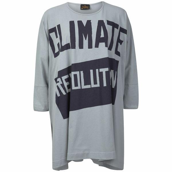Vivienne Westwood Anglomania Women's Climate Revolution Elephant T-Shirt - Light Blue/Grey