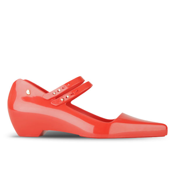 Karl Lagerfeld for Melissa Women's Melissima 11 Pointed Toe Flat Shoes - Red