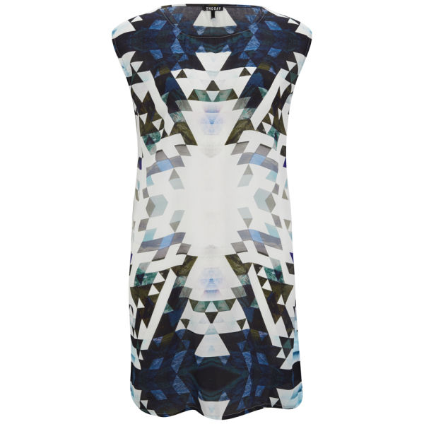 2NDDAY Women's Geometric Printed Dress - Blue Print