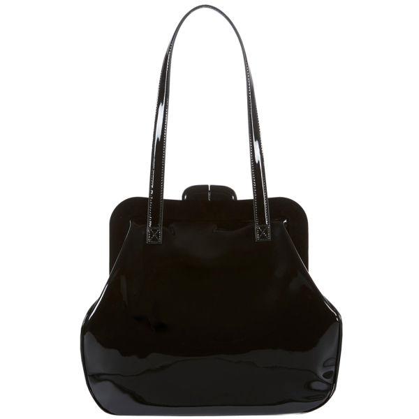 Lulu Guinness Mid Pollyanna Patent Leather Bag - Black