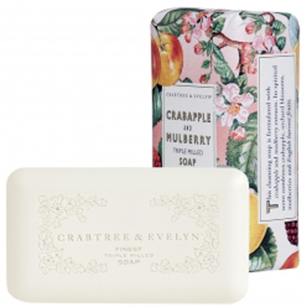 CRABTREE & EVELYN CRABAPPLE & MULBERRY TRIPLE-MILLED SOAP (158G)