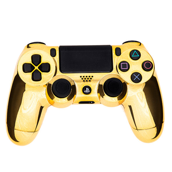 playstation dualshock 4 c3 pcontroller chrome gold games accessories. Black Bedroom Furniture Sets. Home Design Ideas
