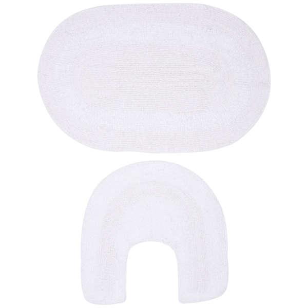 Bath Mat Sets White : Piece cotton bath mat set white iwoot