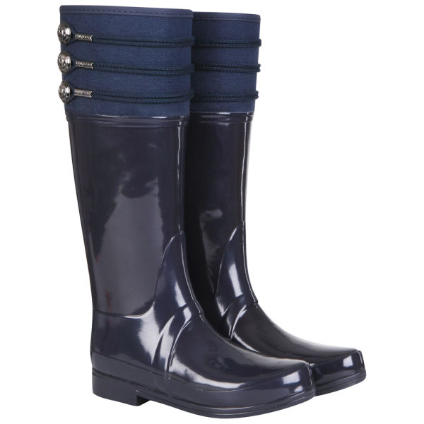 Hunter Women's Regent Earlton Wellington Boots - Navy