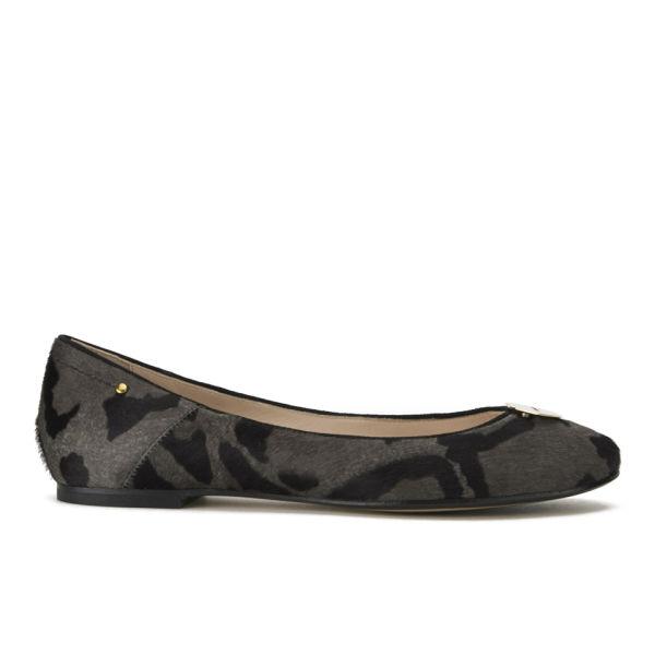 Jerome Dreyfuss Women's Aurelie Lips Leopard Print Ballet Pumps - Grey
