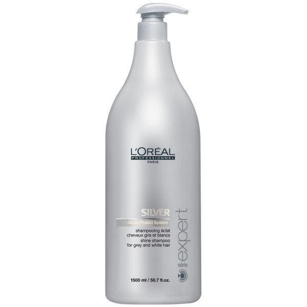 L'Oreal Professionnel Serie Expert Silver Shampoo (1500ml) and Pump