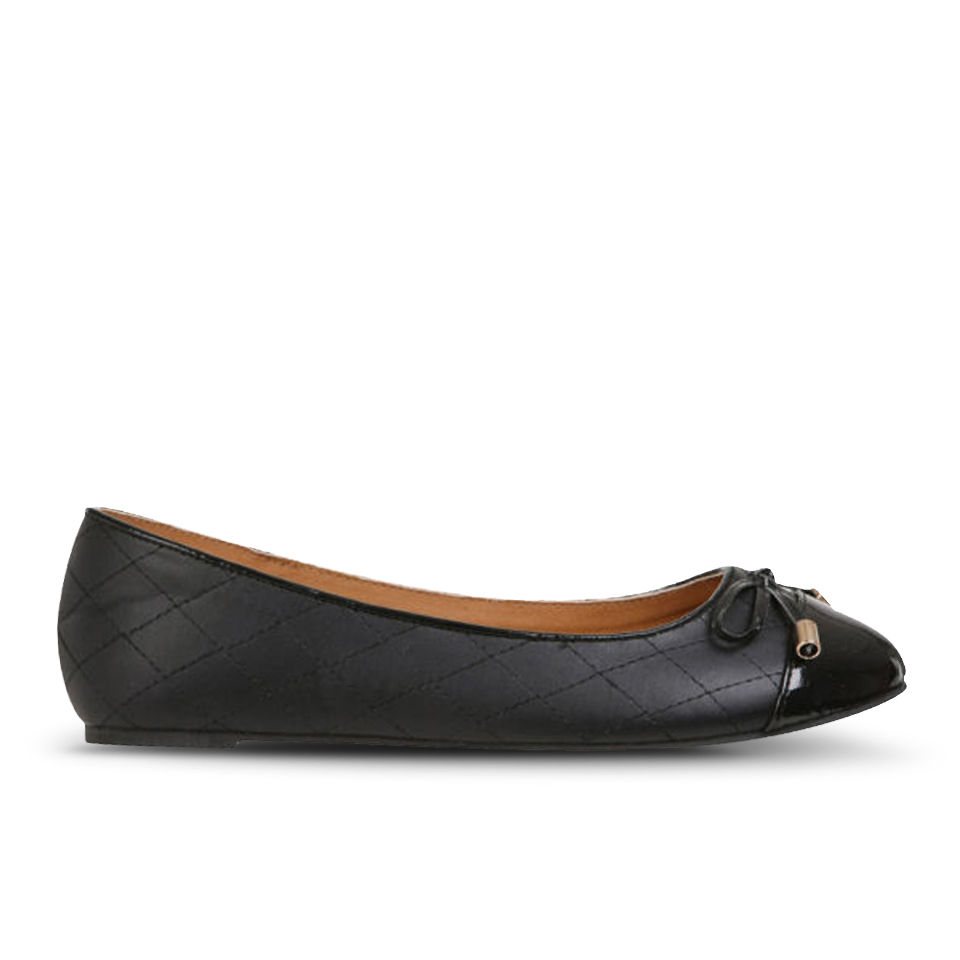 love sole women s quilted pumps black free uk delivery