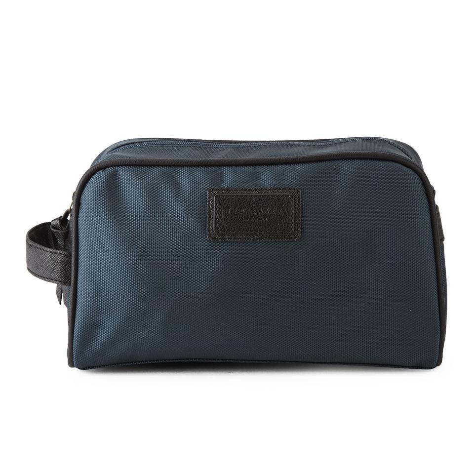ted baker men 39 s core nylon wash bag blue free uk delivery. Black Bedroom Furniture Sets. Home Design Ideas