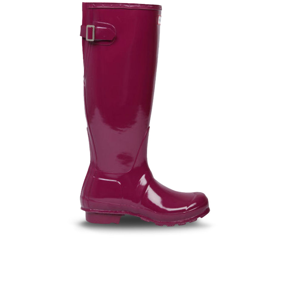Hunter Womens Original Back Adjustable Gloss Wellington Boots