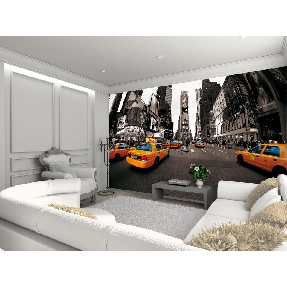 New york times square wall mural homeware - Poster mural leroy merlin ...