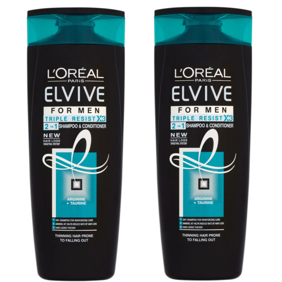 L Oreal Paris Elvive Triple Resist For Men 2 In 1 Shampoo