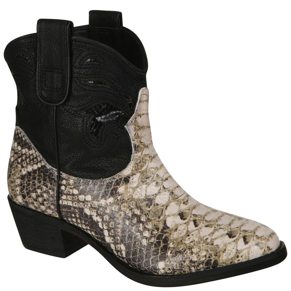 Sam Edelman Women S Stevie Cowboy Boots Snake Skin
