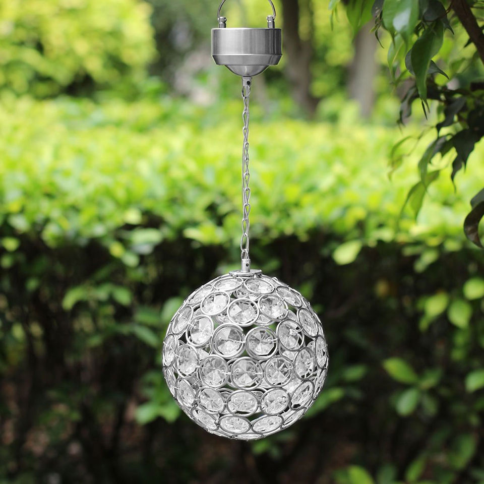 Aria Colour Changing Hanging Crystal Ball Light Iwoot