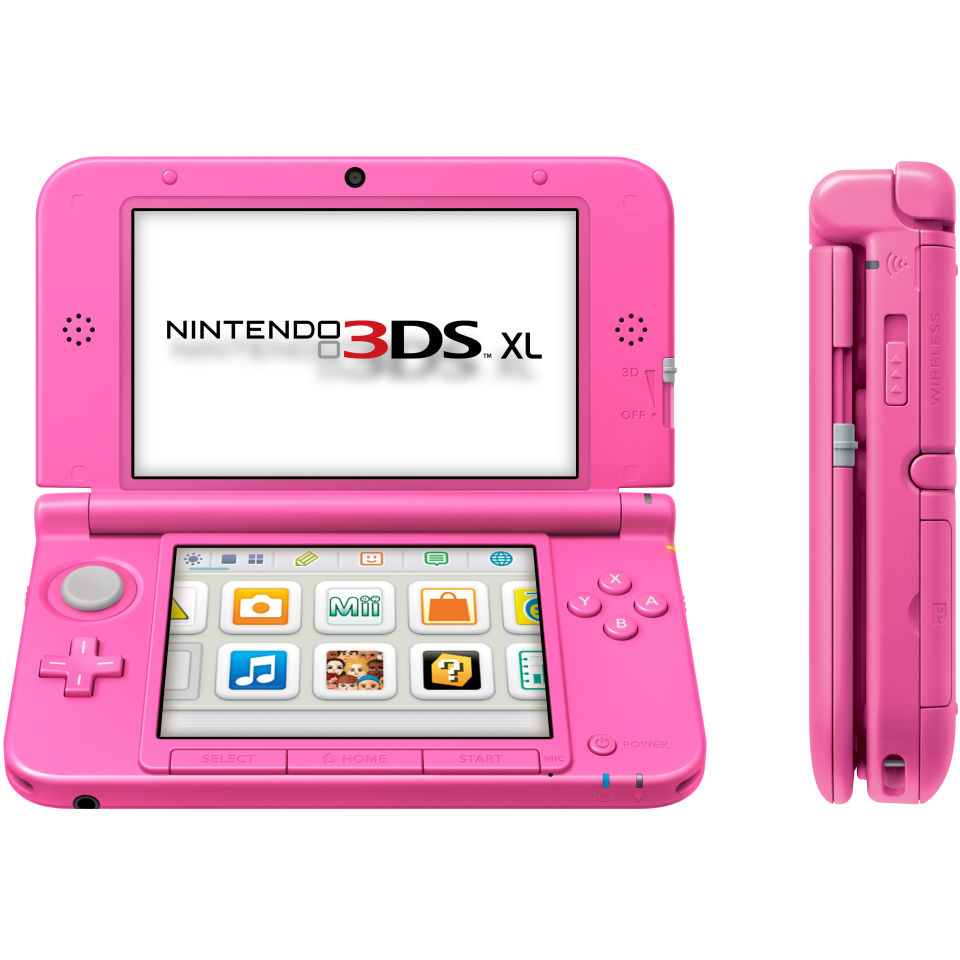 Nintendo 3DS XL Console - Pink Games Consoles