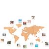 Cork Board World Travel Map: Image 1