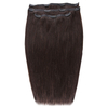 Beauty Works Deluxe Clip-In Hair Extensions 18 Inch - Ebony 1B: Image 1