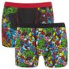 Marvel Men's 2 Pack All Over Print Boxers - Black: Image 1
