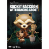 Beast Kingdom Marvel Guardians of the Galaxy Egg Attack Rocket Raccoon with Dancing Groot 4 Inch Figure: Image 2