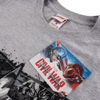 Marvel Men's Captain America Civil War Stars & Stripes T-Shirt - Sport Grey: Image 3