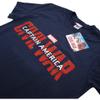 Marvel Men's Captain America Civil War Logo T-Shirt - Navy: Image 2