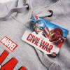 Marvel Men's Captain America Civil War Logo Hoody - Grey: Image 3
