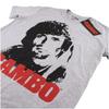 Rambo Men's Face T-Shirt - Grey Marl: Image 3