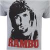 Rambo Men's Face T-Shirt - Grey Marl: Image 5