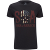 Sons of Anarchy Men's Flag Skull T-Shirt - Black: Image 1