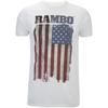 Rambo Men's Flag T-Shirt - White: Image 1