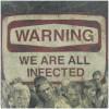 The Walking Dead Men's Warning Sublimation T-Shirt - Black: Image 3