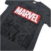 Marvel Men's Mono Comic T-Shirt - Dark Heather: Image 2