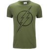 DC Comics Men's The Flash Line Logo T-Shirt - Military Green: Image 1