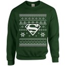 DC Originals Christmas Superman Kids Sweatshirt - Forest Green