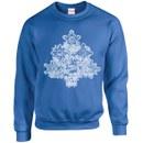 Marvel Comics Christmas Tree Sweatshirt - Royal