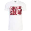 DC Comics Men's Suicide Squad Line Up Logo T-Shirt - White