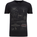 Star Wars Men's Fleet Schematic T-Shirt - Black