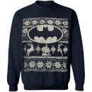 DC Comics Men's Batman Christmas Fairisle Sweatshirt - Navy