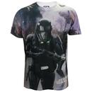 Star Wars: Rogue One Men's Death Trooper Battle T-Shirt - White