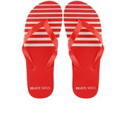 Bravesoul Herren Coast Flip Flops - Rot