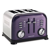 Morphy Richards 4 Slice Accents Toaster - Plum