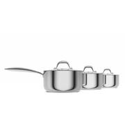 Morphy Richards 79812 Pro Tri 3 Piece Pan Set - Stainless Steel