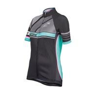 Santini Anna Women's Meares TDU Aero Short Sleeve Jersey Full Zip Jersey - Black
