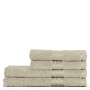 Restmor 100% Ägyptische Baumwolle 4 Stück Premium Handtuchset - Latte