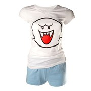 Boo - T-Shirt Women's Shortama (White)
