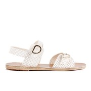 Ancient Greek Sandals Women's Irini Perforated Leather Sandals - White