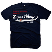 Worms Men's T-Shirt - Super Sheep Vintage Logo - Blue
