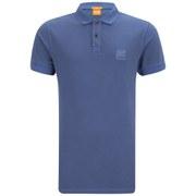 BOSS Orange Men's Slim Fit Pascha Polo Shirt - Electric Blue