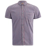 BOSS Orange Men's Ezippo Short Sleeve Gingham Shirt - Blue Check