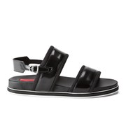 HUGO Women's Jules-S Contrast Sole Flat Sandals - Black